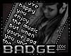 MUSIC/LYRICS BADGE