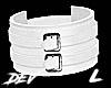 !D L Leather Cuff White