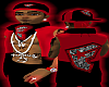 *CA* Red & Black F vest