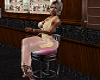 PINK BAR STOOL FOR LADY
