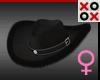 Black Fur Cowgirl Hat
