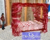 TK-Valen Pink Canopy Bed