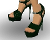 Dark Green Spiked Heels