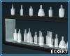Blue Glow Bottle Shelf