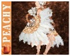 P~ peach burlesque fan