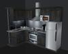 Small anim. gray kitchen