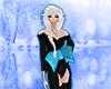 black kimono blue bow