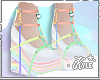Rainbow Heart Heels | V1