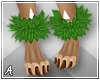 A| Hula Leaves Anklets