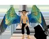 Blue Roller wings