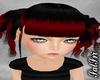 Redish/Black Curl Ponies