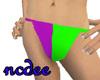 prple/grn bikini bottoms
