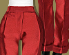 Red Silk Classic Pants