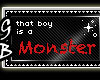 [GB] Monster ANM Stamp