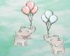 Baby elephants art