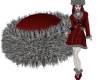 Greta Fur Hat Red