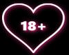 18+ Neon Sign