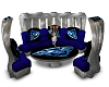 COUCH SUITE, BLUE WHITE