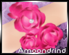 AM:: Pink Flower Bracele