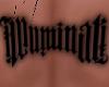 Mm*Iluminati back tattoo
