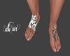 Wolf Tattoo Feet Custom
