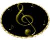 Music Oval Rug