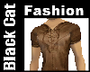Brown Leather Laced Top