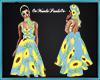 Vintage Dress Sunflowers