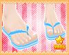 *Y* Blue Flip Flops