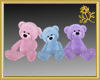 Pastel Teddy Set