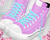 Pink Blue Sneakers