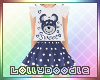 KIDS Teddy Dress Blue