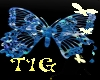 Tig~butterfly rug/blue