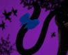 Black Cat tail/Blue Bow
