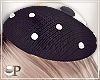 Black Beret with Pearls