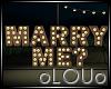 .L. Marry Me Sign