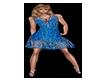 Blue Summer Bling Dress