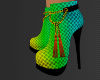 Neon Rave Boot Heels