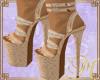 M Sensual Gold Heels