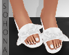 ṩ| Bow Slippers White