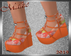 Tankini Orange Shoes Kid