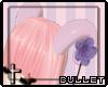 [B] .Purple horns.