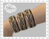 D*gld/brn bracelets L