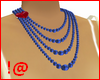!@ Blue pearls necklace