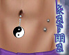 Belly Ring-YinYangDangle