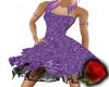 purple strapless