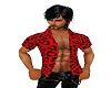 red leopard open shirt
