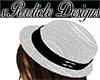 White Snake Bandora Hat