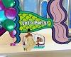 Kid Mermaid Party Banner