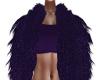 Purple Sheen Fur Jacket